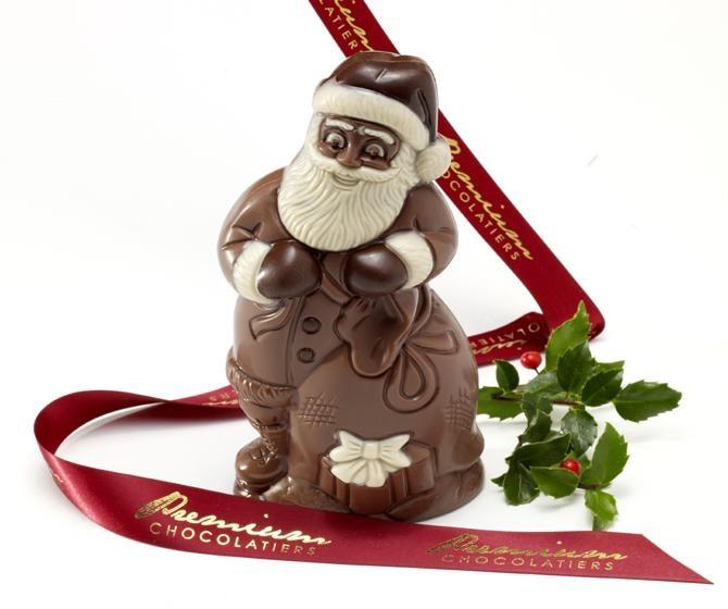 Dairy-Free, Nut-Free, Gluten-Free, Egg-Free Chocolate Santa Claus from Premium Chocolatiers