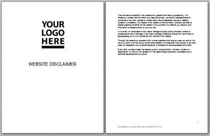 Best Business Documents Images On Pinterest Other Gifts - Website disclaimer template