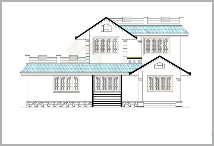1600 sq ft 4 bedroom kerala style 2 storey house design Kerala - fresh apprendre blueprint ark