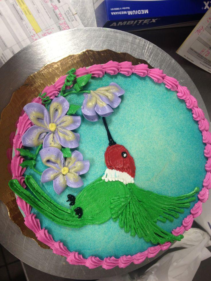 Hummingbird design. Sonya Lindee @ Hunters crossing Publix Gainesville Florida.