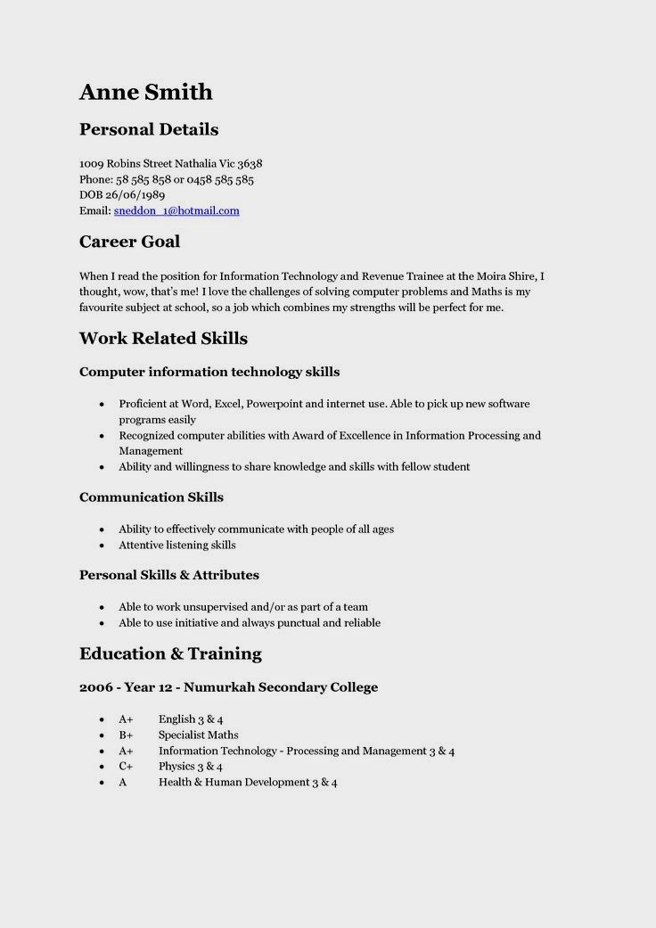 sample resume for dietary aide