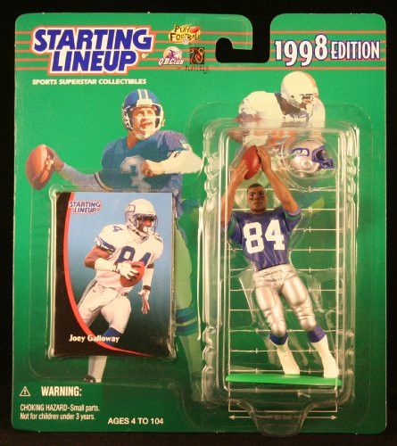 JOEY GALLOWAY / SEATTLE SEAHAWKS 1998 NFL Starting Lineup Action Figure & Exclusive NFL Collector Trading Card