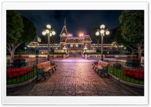 Christmas Train Station HD Wide Wallpaper for Widescreen