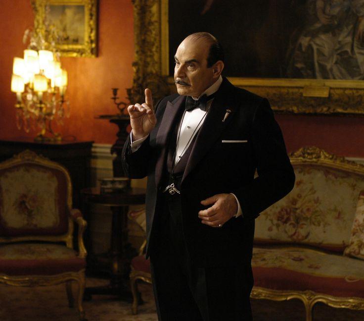 David Suchet as Hercule Poirot, Dame Agatha Christie's favorite Belgian sleuth.