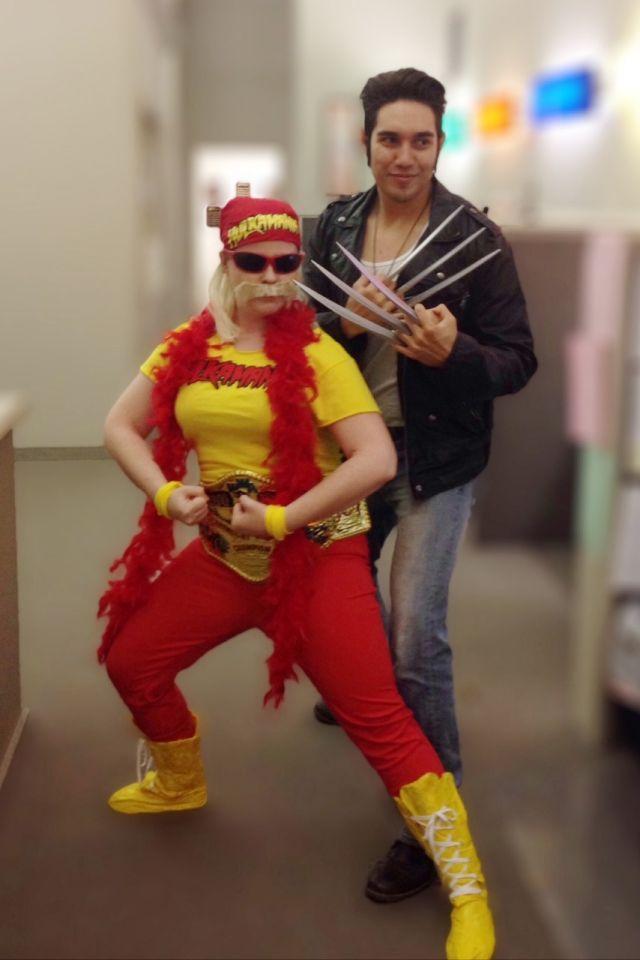 Hulk Hogan Wolverine, Edward mit den Scherenhänden, Costumes, Halloween, I Karneval, Kostüm, Fasching, Verkleidung