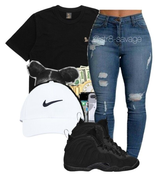 """OVO"" by str8-savage ❤ liked on Polyvore featuring NIKE"