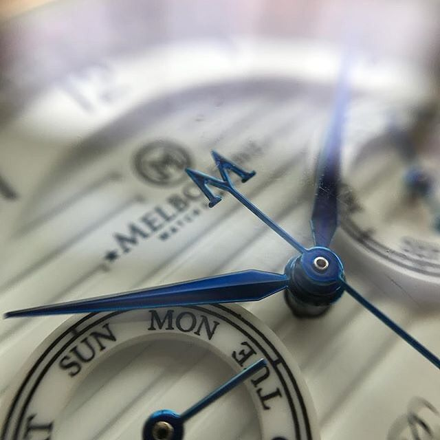 Owner's pics : @mikerazak with a great macro shot of the dial on our Portsea Calendar model. Pre-orders for our next release now open, don't miss out!