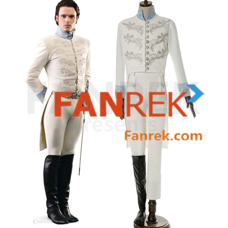 Disney Movie 2015 Cinderella Movie Cosplay The Prince Costumes