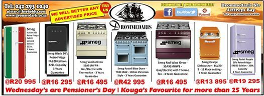 Wednesdays are Pensioners days at Drommedaris and a time to get huge savings as a reward. Visit us in Jeffreys Bay and see all the wonderful products we stock for your home. #lifestyleproducts #homedecor #furnituresupplier