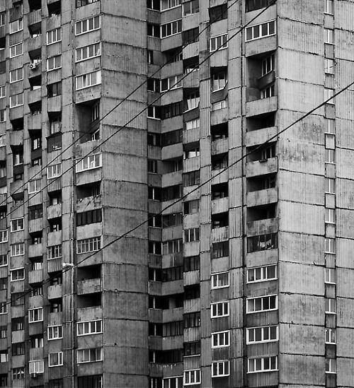 Russia, Leningrad, state housing projects