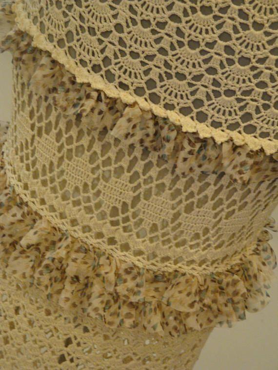 Вязание крючком юбка хлопок, вязание крючком юбка, лето юбки, кружевные юбки, Boho крючком, макси-юбка, Boho способа, свободная перевозка груза