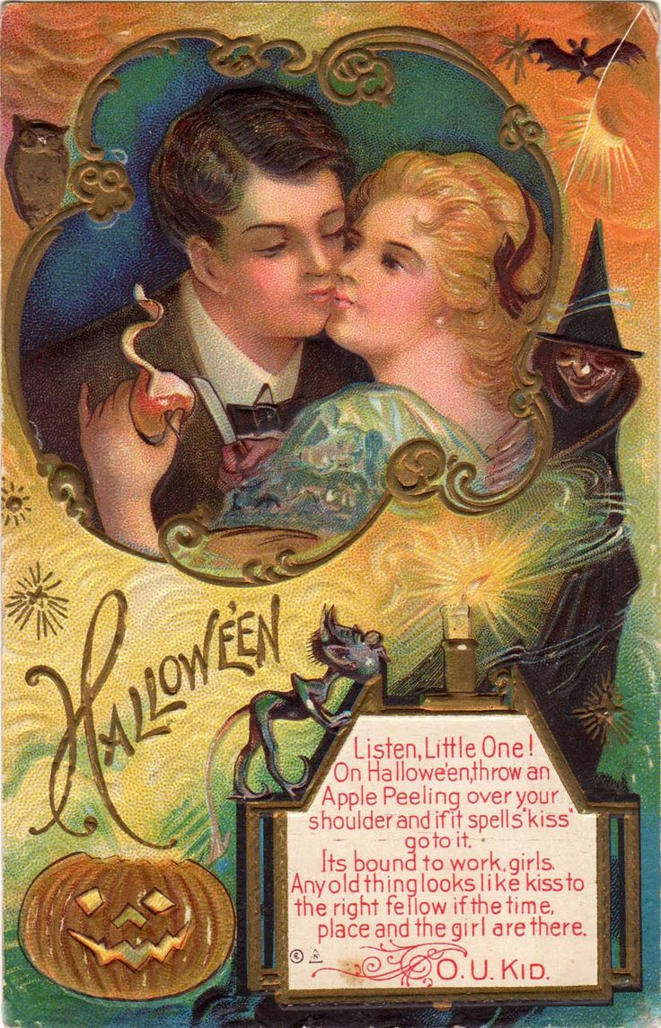 83 best Divination and Fortune Telling Halloween Postcards images ...