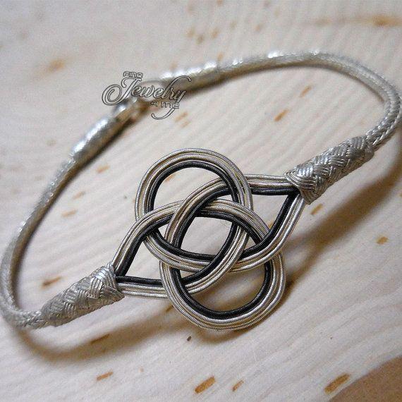 100% Pure Silver & Black Silver Kazaz Eternal by FineJewelry4Me