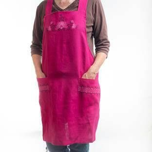 Check out this item in my Etsy shop https://www.etsy.com/listing/568297536/linen-apron-cross-back-apron-pink-apron