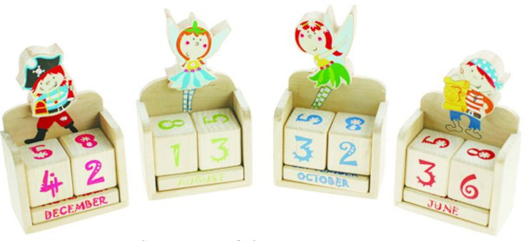 Cheeky Chops Shop  - Wooden Pirate and Fairy Calendar, $8.95 (http://www.cheekychops.com.au/wooden-pirate-and-fairy-calendar/)