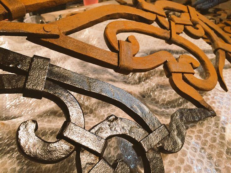 Restauro ringhiere in ferro - particolare.  L'Aquila