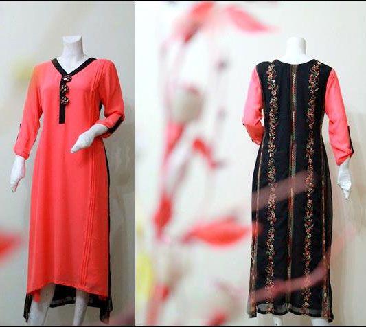 New Long Kurta Style Kurti Designs for Girls 2013
