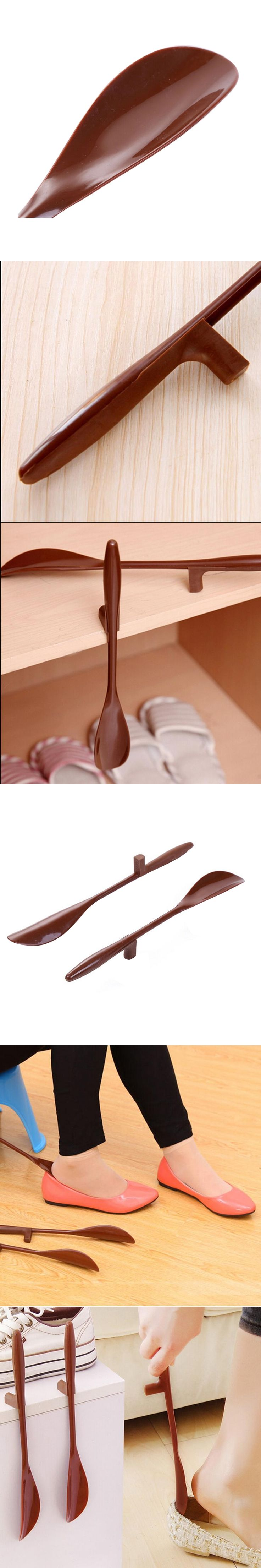 1 Pc Shoes Accessories Shoe Horn Hanging Lengthen PP And TPE Shoehorn Long Shoe Horn For The Aged & Pregnant WomanP1