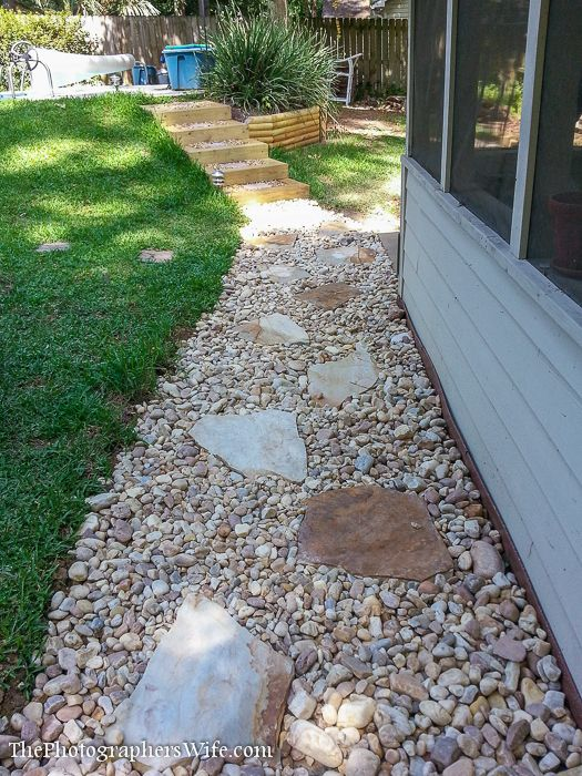 41 best images about large yard hardscape ideas on for Large river stones for landscaping