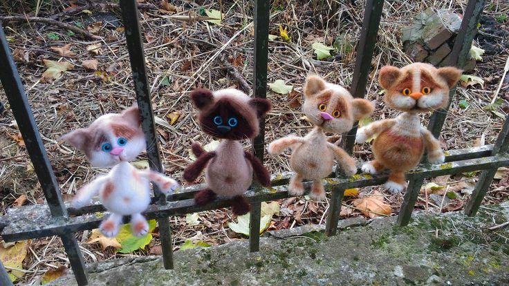 кот, cat, amigurumi, вязаная игрушка, связано по МК Веры Терекбаевой