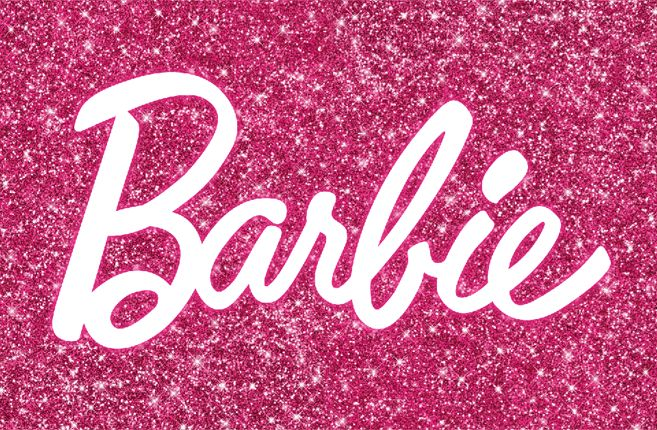 barbie glitter pink wallpapers Pinterest Fonts