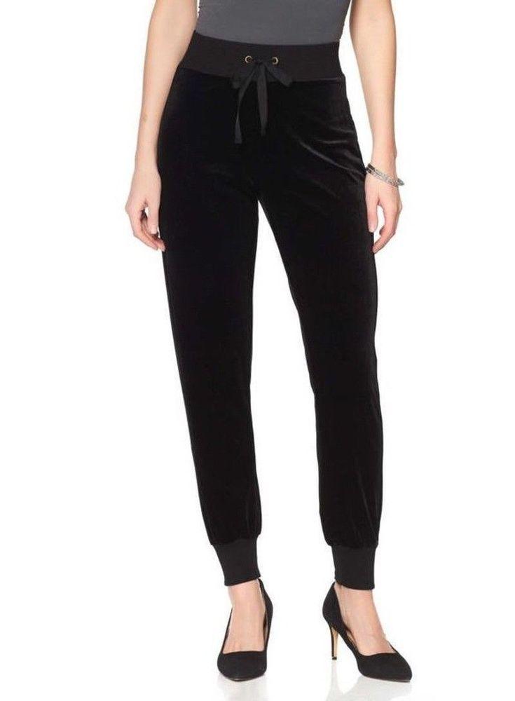 Wendy Williams Velvet Jogger BLACK Size L #WendyWilliams #Joggers