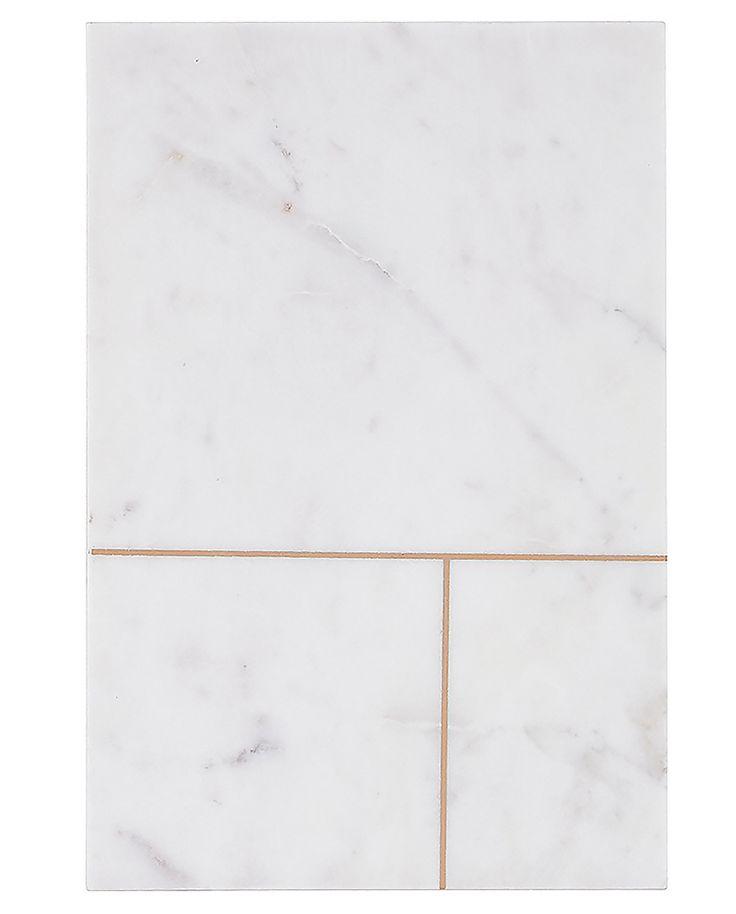 Plateau de marbre blanc N.2 - House Doctor - Visuel 1