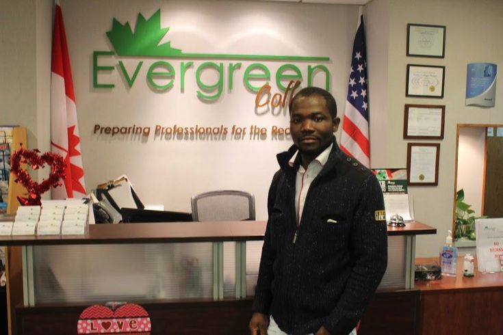 Evergreen College is happy to welcome our new International students Sampson from Ghana to the Medical Office Administrator Diploma Program.  Welcome to Canada and Welcome to Evergreen College!  Know more about Evergreen College, please call us at (416) 365 -0505 Professional #careercollege #career #success #collegelife #Dreambig #Evergreen