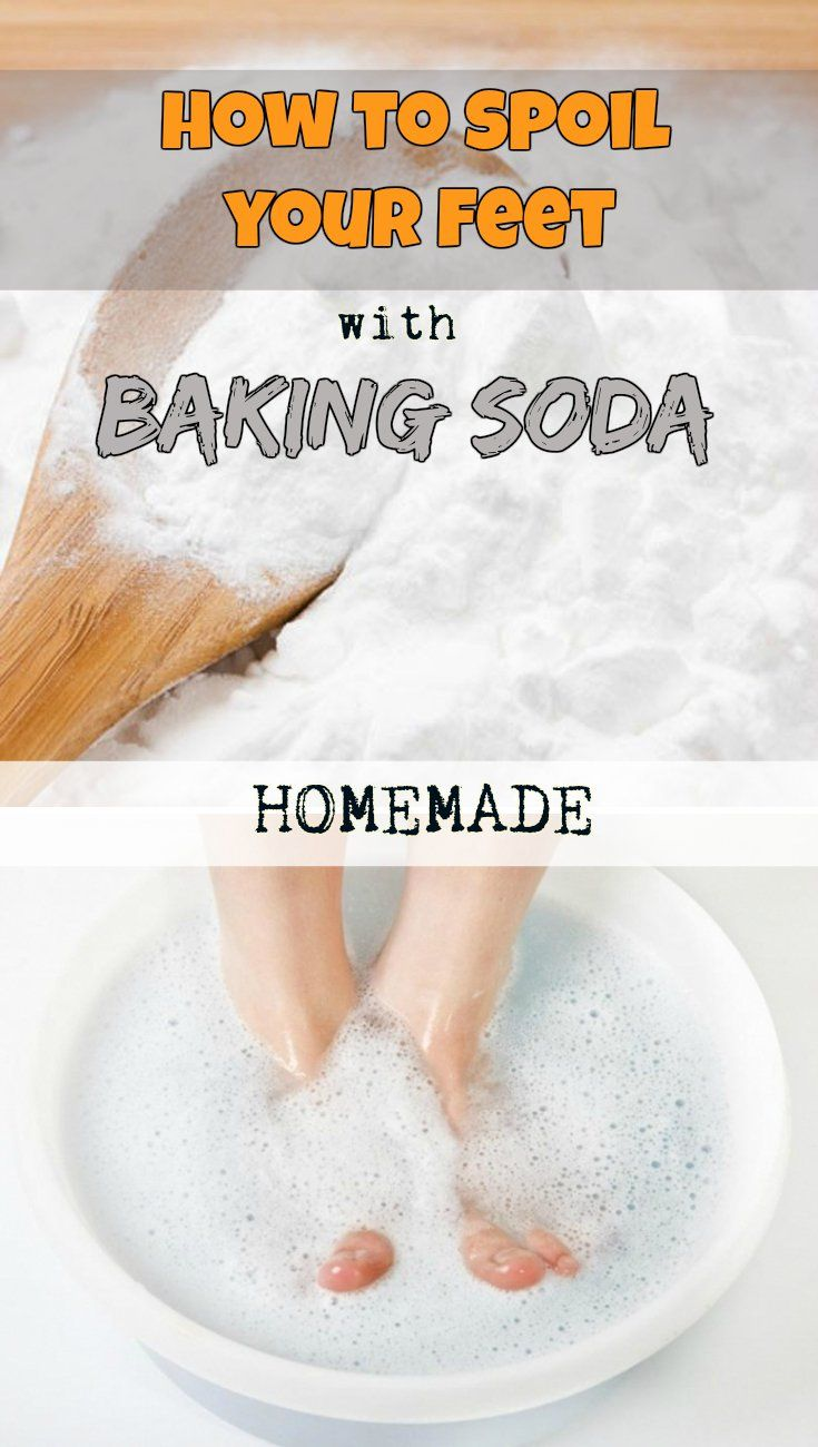 Learn how to spoil your feet with baking soda.