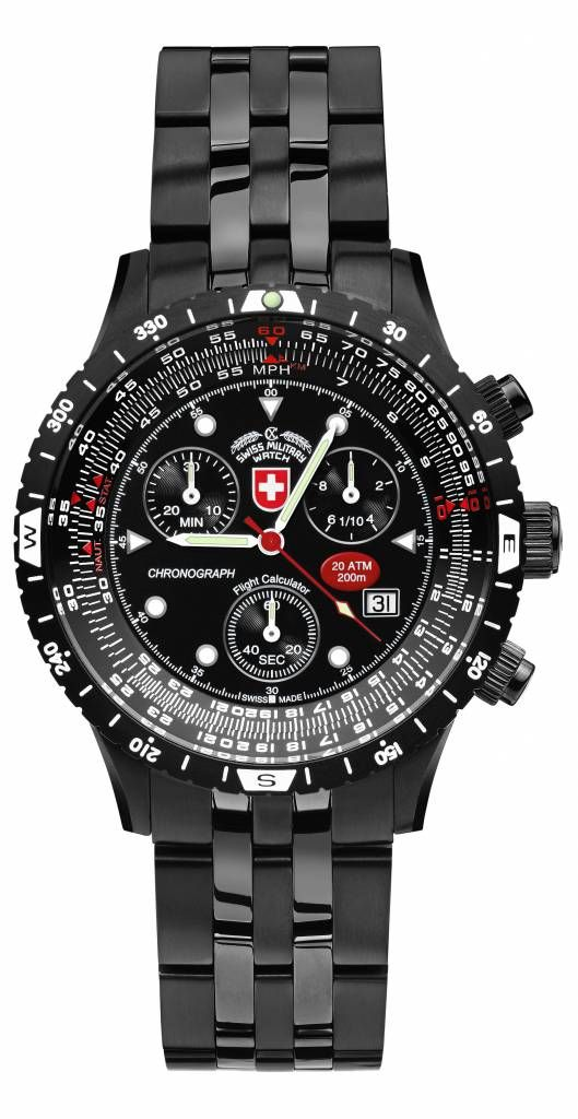 The AIRFORCE l EVO by CX Swiss Military Watch™, named after the US President's aircraft, was designed to meet the extremely high standards of the equipment