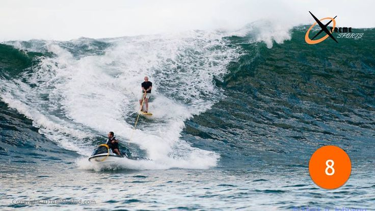 8- Tow-In Surfing  Catching waves by paddling with hand is an obsolete technique now. It doesn't allow you to surf the bigger #waves. Some adrenalists who wanted to catch waves higher than 30 feet came up with the concept of tow-in #surfing wherein a surfer uses artificial assistance traditionally a #Jetski to catch faster moving waves.