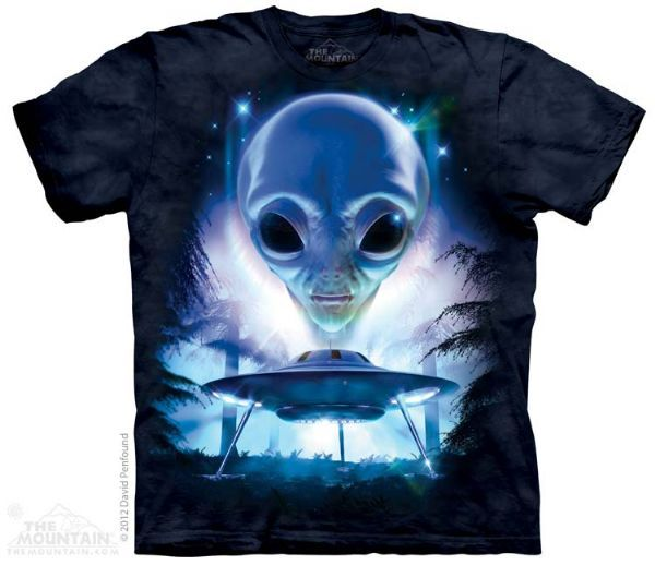 The Mountain Alien T-shirt | Just Visiting, Science Fiction and Space T-
