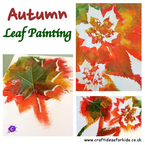 Craft Ideas for Kids - Autumn / Fall Leaf Painting