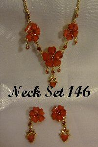 Necklace - Red in Color with Earings #Neck146