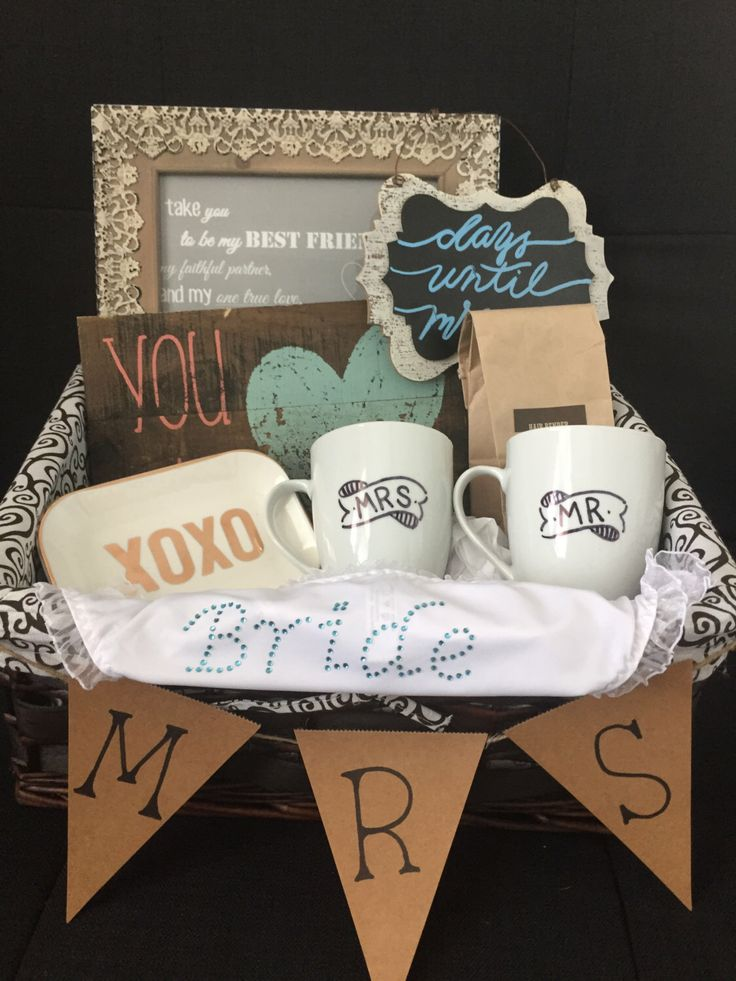 Bridal Gift Basket, Bridal shower gift basket, gifts for bride, bride gifts ig: withheartandmind
