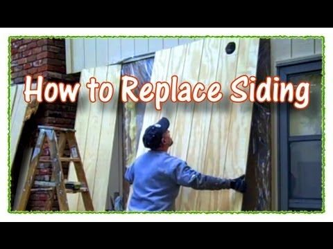 Tool Dude Tony shows you step-by-step how to replace damaged 4x8 sheets of plywood or Masonite house siding. Watch this HD episode of How to Fix Sh#t 101. Fo...