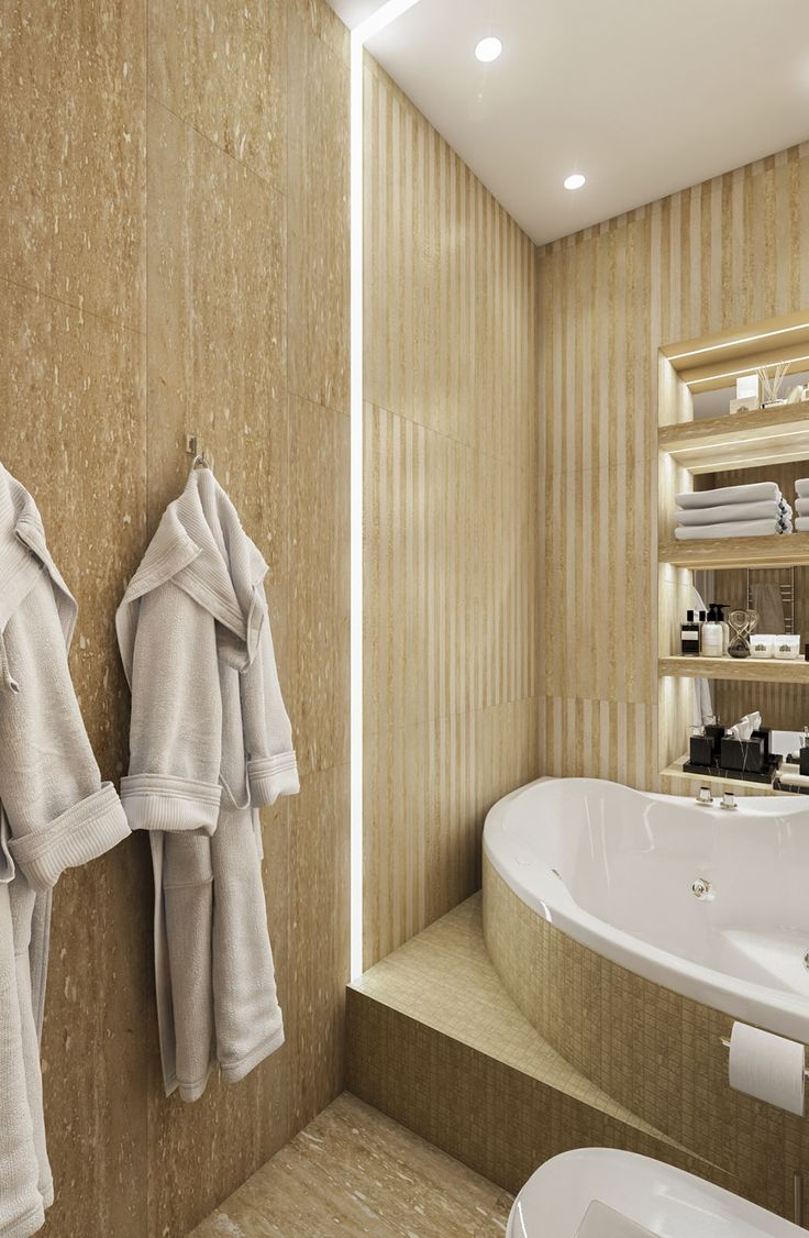 Дизайн апартаментов ЖК Balchug Residence. Ванная 3. Вид 2  #аркси #arxy #дизайнинтерьера #элитныйинтерьер #дизайнквартиры #ванная