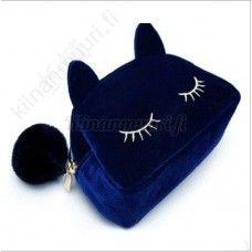 Kissa meikkilaukku, eri värivaihtoehtoja