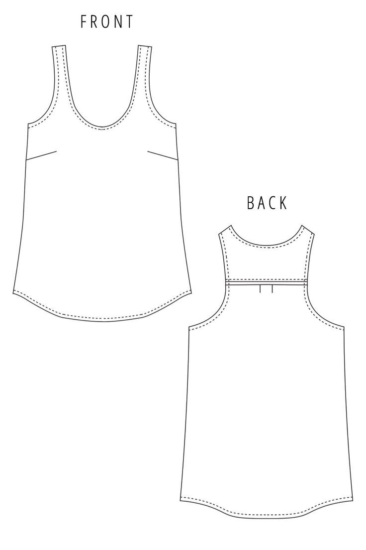The 25 best tank top patterns ideas on pinterest a tank diy ella top sewing pattern by liola patterns jeuxipadfo Image collections