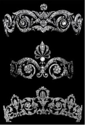 Mystery French Chuamet tiaras. From the Chaumet Museum site. Hints on provenance?