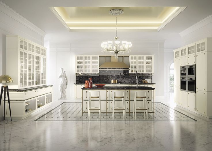 """Kelly is a cabinetry line for homeowners who like modern kitchen design but have a taste for the """"old fashioned"""" and more ornate details. With its chic presence, this luxury kitchen is a homage to European homes of a bygone era…while offering the functionality of the present."""