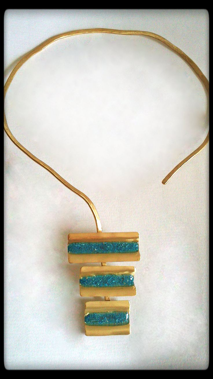 brass handmade necklace #brass #necklace #handmade #gold #jewelry