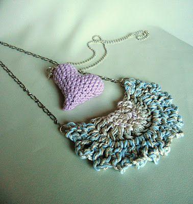 spring crochet necklaces