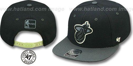 Heat 'NIGHT-MOVE SNAPBACK' Adjustable Hat by Twins 47 Brand on hatland.com