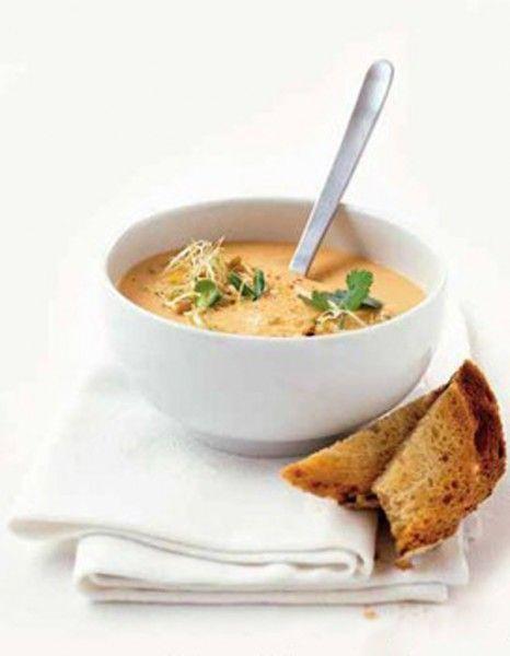 Soupe de lentilles corail curry coco