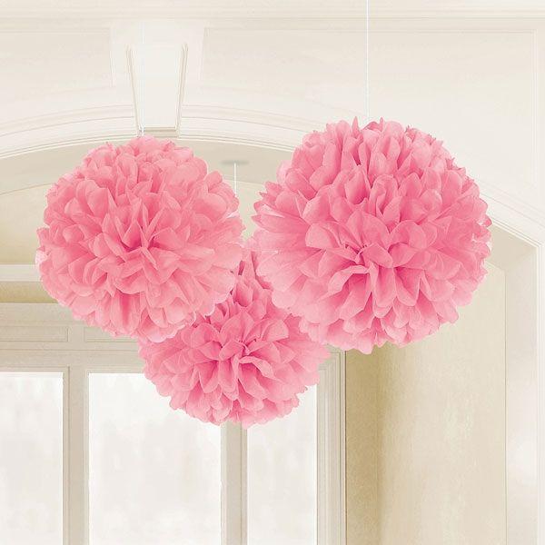 Pompoms in Rosa als Hochzeitsdeko und tolle Deko für die Candy Bar