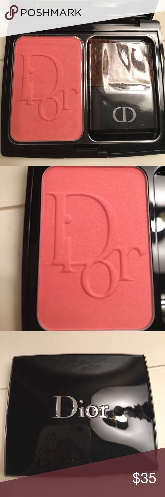 Dior Blush. Color is happy cherry. Brand new condition. Never used. Still has plastic insert covering Blush and brush. I don't have the box. Dior Makeup Blush
