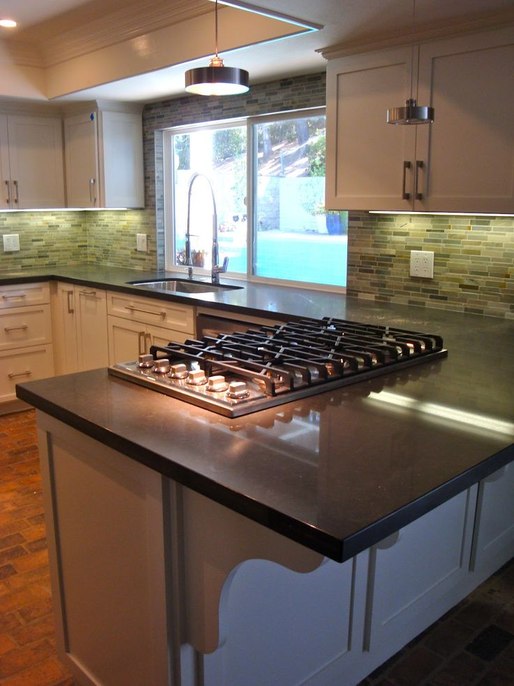 Best 25 slate kitchen ideas on pinterest dark cabinets - Kitchen peninsula designs with seating ...