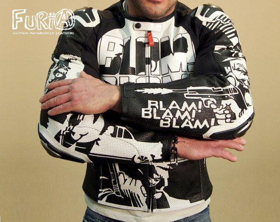 Motorcycle leather jacket SIN CITY by FURIAcustom on Etsy  #furia #furiacustom #furiacustommotorcycle #motojacket #moto #leather #motorcycle #ручнаяработа #мишаfuria #байкеры #Мотокуртка #Motorcyclejacket #Motorcyclesuit #Мотозащита #Motoprotection #Protection #Racing #Motorcycle #Honda #Yamaha #Suzuki #Kawasaki #Ducati #Triumph #Caferacer #Patches #Custom #Kustom #Customleathers #Leatherjacket #sincity #marvel