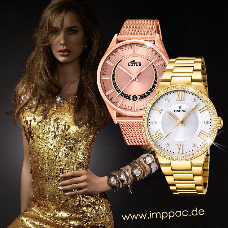 Im Imppac-Shop finden Sie auch vergoldete Damen- oder Herrenuhren bekannter Marken, wie Festina und Lotus. Lassen Sie sich inspirieren, denn für einen glamourösen Auftritt zählt jedes Detail!